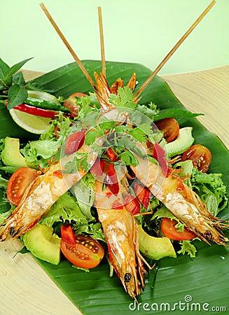 Free Chilli Shrimp Skewers Royalty Free Stock Photos - 18230568