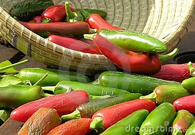 Chillies (chilies)in a basket