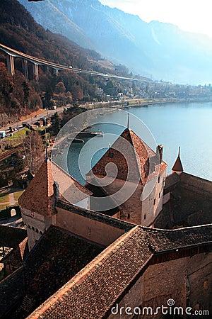 Chillon Castle and Lake Geneva