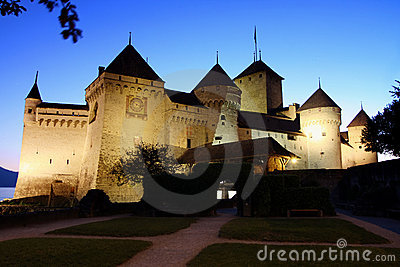 The Chillon castle in Montreux, Switzerland