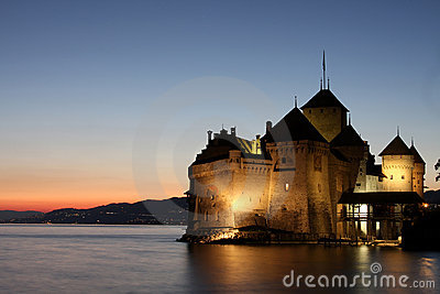 The Chillon castle in Montreux (Vaud),Switzerland
