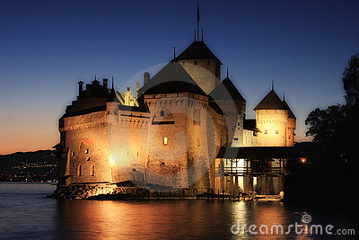 The Chillon castle in Montreux (Vaud),Switzerland