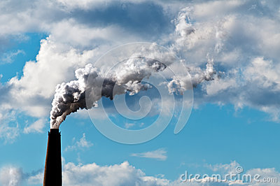 Chimney exhaust waste amount of CO2