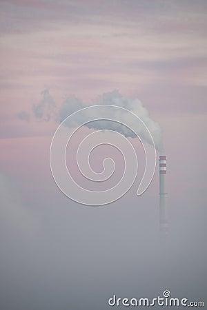 Chimney in Fog