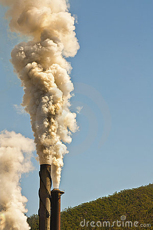 Free Chimney Pollution Stock Image - 22283851