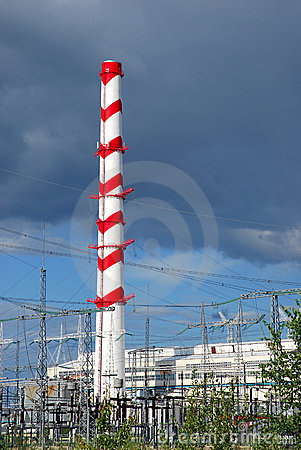 Chimney of power plant