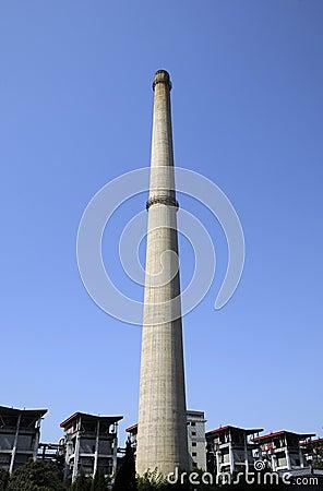 Chimney of power station