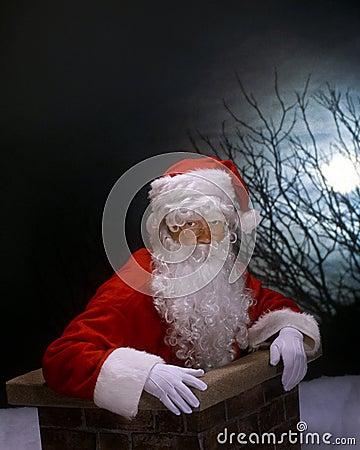Free Chimney Santa Royalty Free Stock Image - 15556746