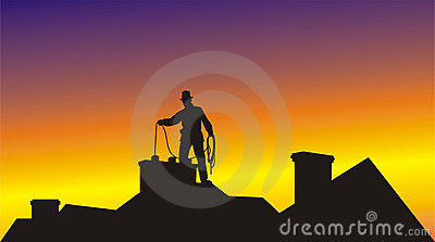 Chimney sweep clean the chimney