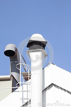 Chimney and ventilation pipe
