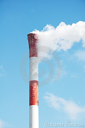Chimney And White Smoke Stock Photo - Image: 21773260