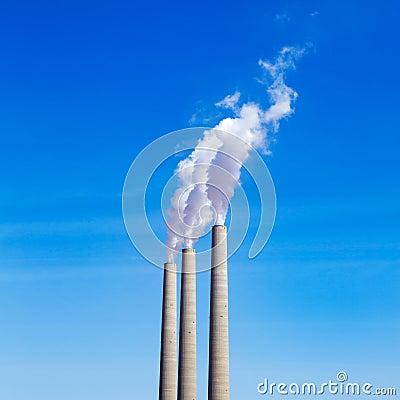 Chimney white smoke three in a row