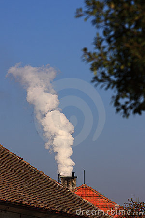 Free Chimney With White Smoke Royalty Free Stock Photo - 16580725