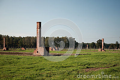 Chimneys at Auschwitz concentration camp