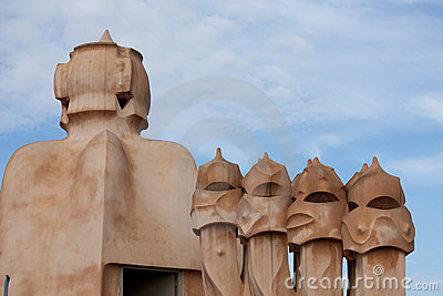 Chimneys of Casa Mila