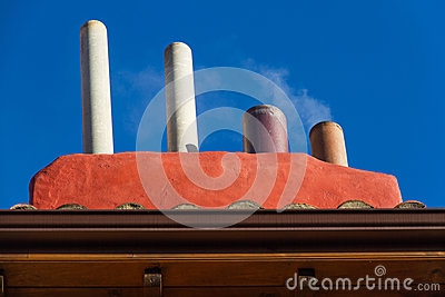 Chimneys with Smoke
