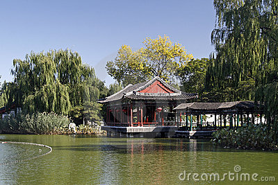 China ancient garden scenery