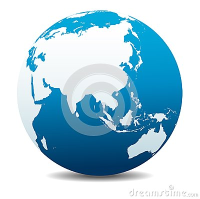 Free China And Asia, Far East Global World Icon Planet Earth Stock Photography - 111084392