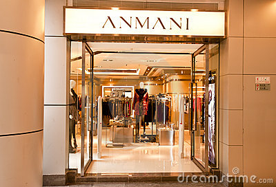 China: ANMANI store Editorial Photography