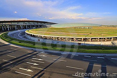 China Beijing Capital  Airport Road Editorial Photography