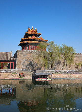 China Beijing Forbidden City Gate Tower Editorial Photo