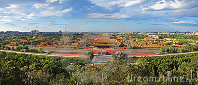 China Beijing Forbidden City palace Panoram