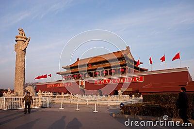 China Beijing Tiananmen Square Editorial Photography