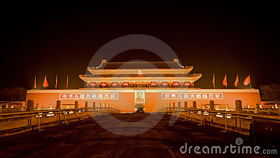 China Beijing Tiananmen Square Editorial Photography