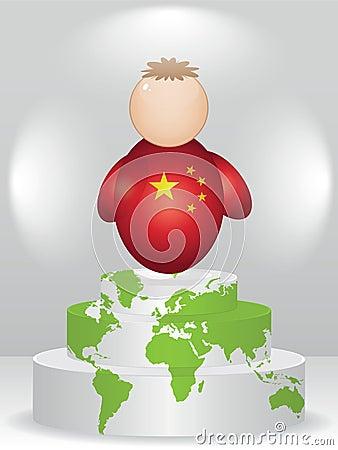 China buddy on podium