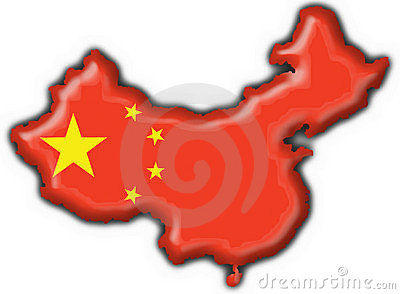 China button flag map shape