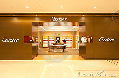 China: Cartier store Editorial Photo