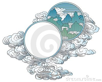 China clouds ornament