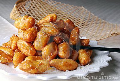 China delicious food--candied chinese yam
