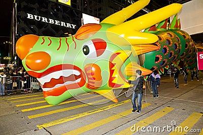 China Dragon ballon Editorial Photo