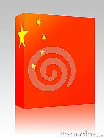 China flag box package