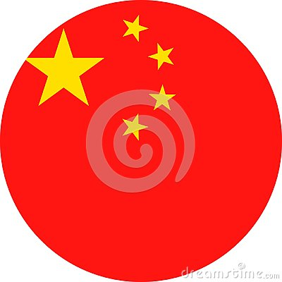 Free China Flag Vector Round Flat Icon Royalty Free Stock Images - 100596479
