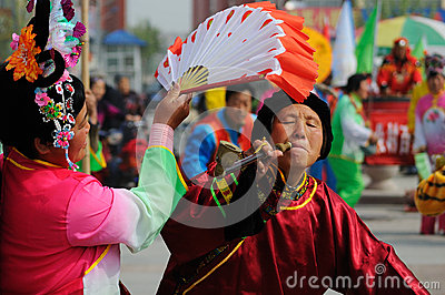 China:Folk dance Editorial Photo