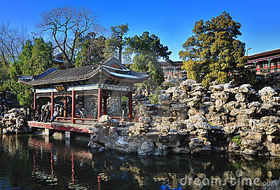 China Garden, Beihai Park ,Beijing Editorial Stock Image