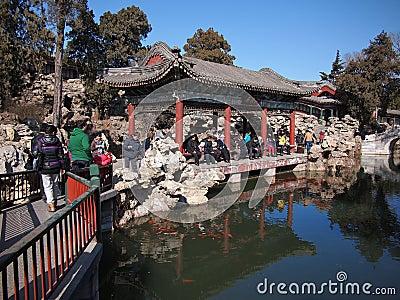 China Garden, Beihai Park ,Beijing Editorial Image