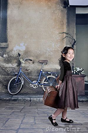 China girl of 1920s with lugga