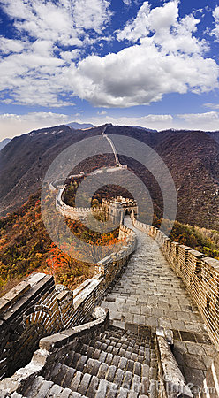 Free China Great Wall Stairs Vertical Royalty Free Stock Images - 48320209