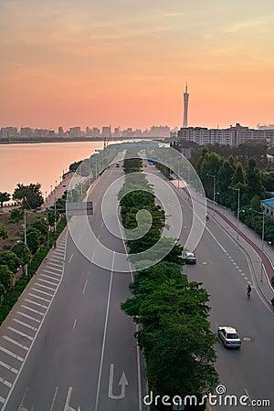 China Guangzhou City road