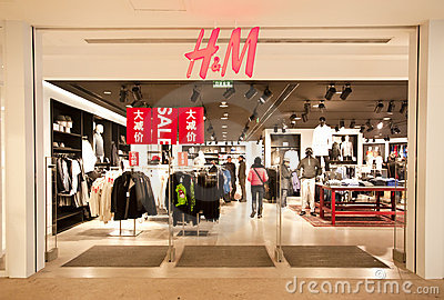 China: H&M Store Editorial Stock Photo