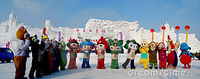 China Harbin international ice snow stanza the 24t Editorial Photo