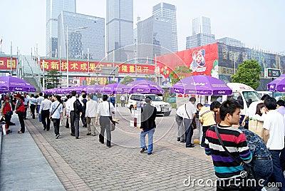 China hi-tech fair held in shenzhen Editorial Stock Photo