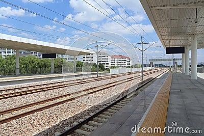 China high-speed train tracks