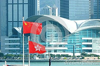 China & Hong Kong Flags