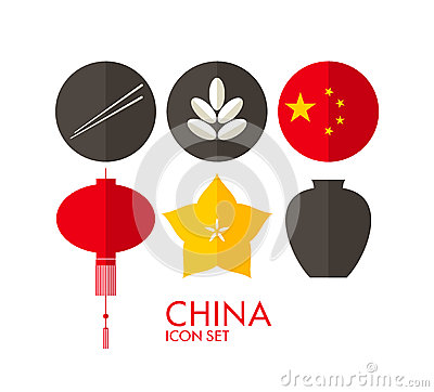 Free China. Icon Set Stock Photography - 50831772