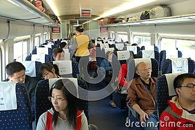 China - inside fast train Editorial Photo
