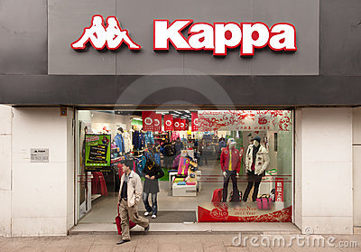 China: Kappa store Editorial Stock Photo